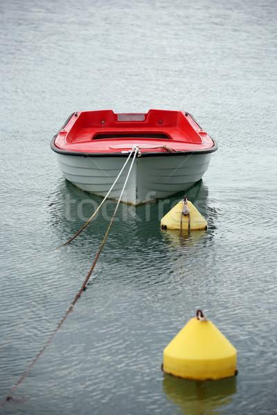 Solitario barco agua verano océano espacio Foto stock © gsermek
