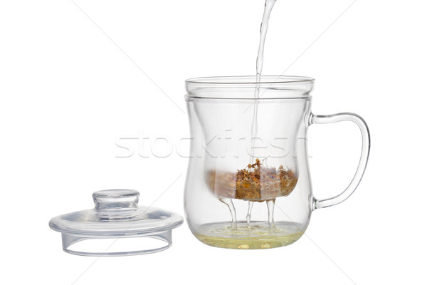 Preparation of the chamomile tea. Stock photo © gsermek