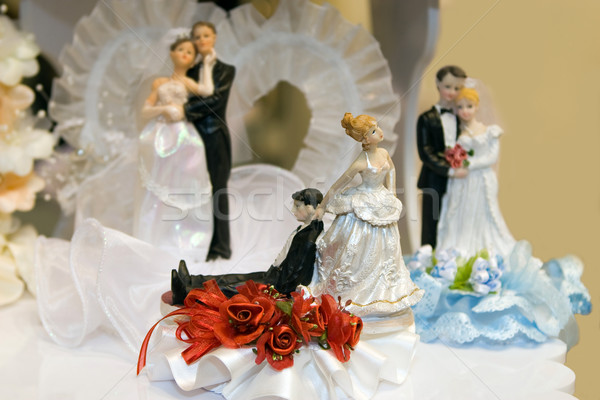 Bride and Groom Wedding Cake Ornaments of your choice Stock photo © gsermek