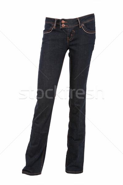джинсовой брюки манекен изолированный белый женщину Сток-фото © gsermek