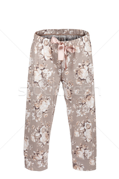 Pants with floral print Stock photo © gsermek
