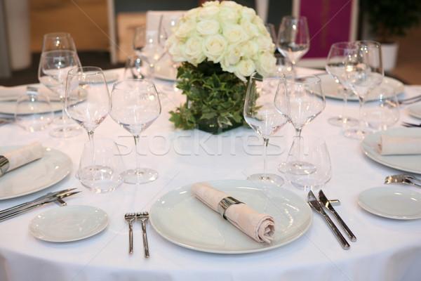 Ricevimento di nozze tavola set evento party business Foto d'archivio © gsermek