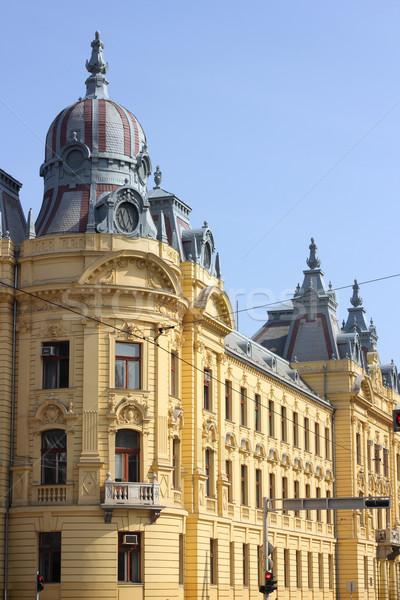 Edificio Zagreb Croacia ciudad calle ventana Foto stock © gsermek