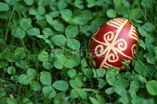 Croatian Easter egg made with traditional decorating techniques Stock photo © gsermek