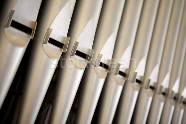 Close up shot of the organ tubes Stock photo © gsermek