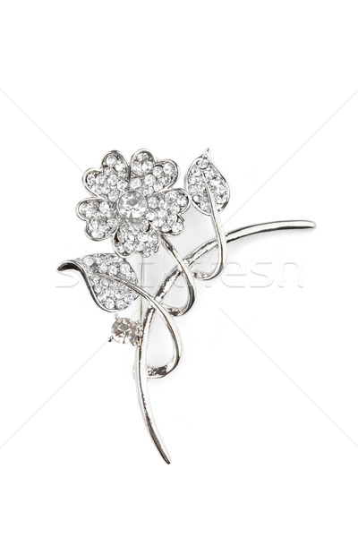Beautiful flower brooch, isolated on white Stock photo © gsermek