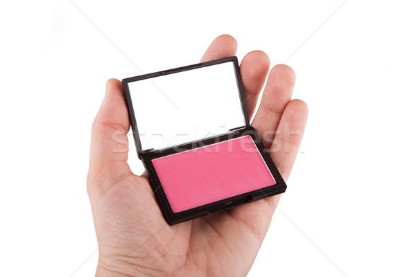 Vrouwelijke hand roze geïsoleerd Stockfoto © gsermek