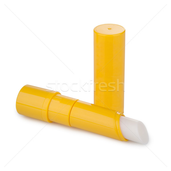 Lip balm with shadow isolated on white Stock photo © gsermek