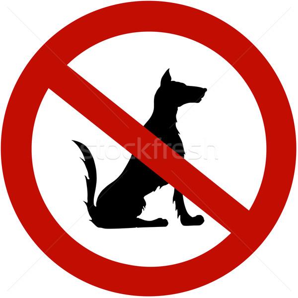 Ograniczony psów ilustracja podpisania psa prawa Zdjęcia stock © gsermek