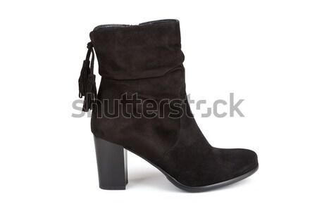 Fekete boka csizma izolált fehér nő Stock fotó © gsermek