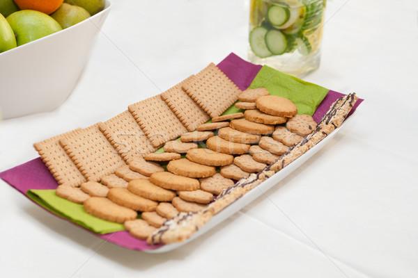 クッキー 務め トレイ 食品 ストックフォト © gsermek