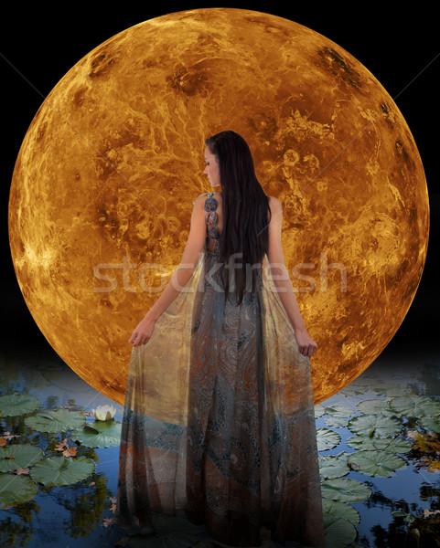 Water fairy in front of a Venus Stock photo © gsermek