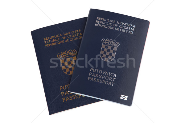 Two Croatian passports isolated on white Stock photo © gsermek