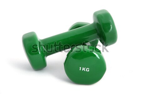 1 kg rubber coated dumbbell Stock photo © gsermek