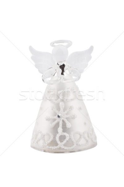 Glass Christmas Angel isolated on white background Stock photo © gsermek