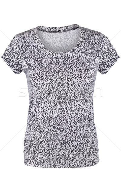 Bianco nero femminile tshirt pattern isolato bianco Foto d'archivio © gsermek