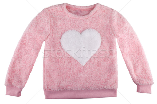 Fuzzy sweater with a heart, isolated on white Stock photo © gsermek