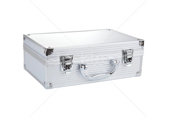 Closed Aluminum Make Up case, isolated on white background Stock photo © gsermek