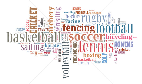 Sports word cloud Stock photo © gsermek