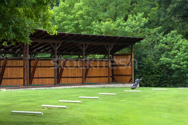 Golf bag on a golf course Stock photo © gsermek