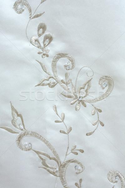 Trouwjurk borduurwerk bloem steeg ontwerp ruimte Stockfoto © gsermek