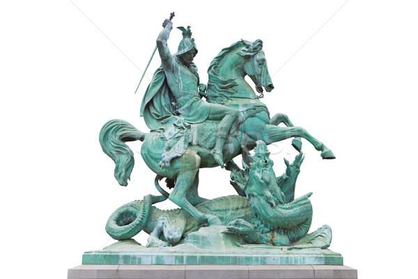 Dragón bronce estatua escultor pie teatro Foto stock © gsermek