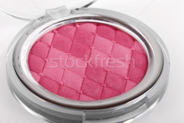 Rózsaszín bőrpír izolált fehér arc fény Stock fotó © gsermek