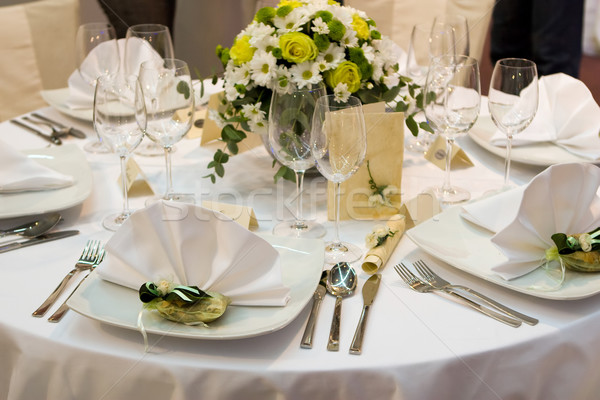 Fancy table set for a wedding dinner  Stock photo © gsermek