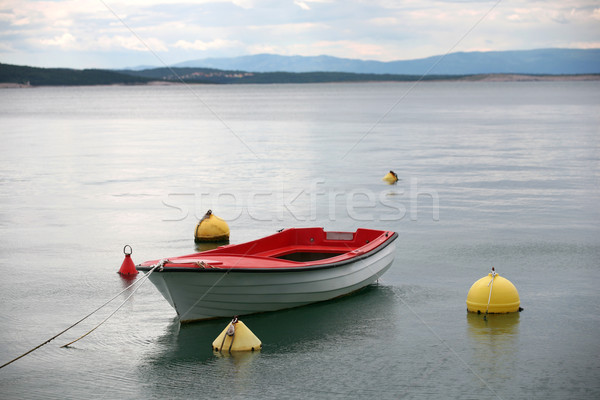 Stok fotoğraf: Yalnız · tekne · su · yaz · okyanus · uzay