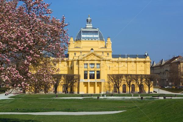 Art Pavilion is an art gallery in Zagreb, Croatia Stock photo © gsermek