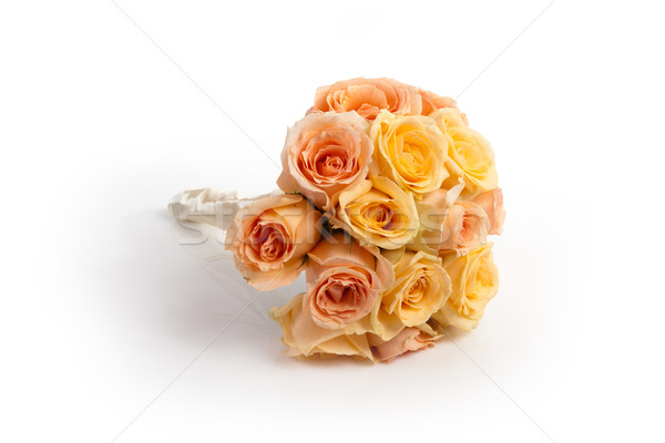 Bridal bouquet on white Stock photo © gsermek
