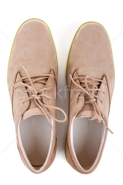 Schoenen geïsoleerd witte voorjaar winkelen mannen Stockfoto © gsermek