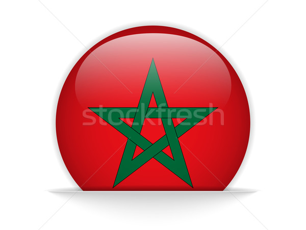 Marokko vlag glanzend knop vector liefde Stockfoto © gubh83