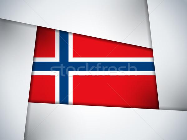 Norvégia vidék zászló mértani vektor üzlet Stock fotó © gubh83