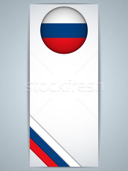Rusia país establecer banners vector resumen Foto stock © gubh83