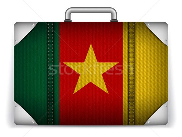 Kameroen reizen bagage vlag vakantie vector Stockfoto © gubh83