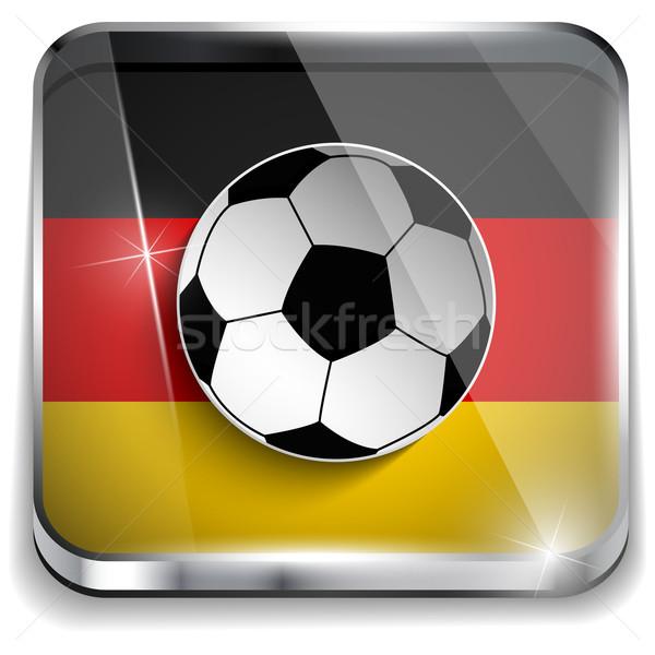 Stok fotoğraf: Almanya · bayrak · futbol · topu · vektör · dünya · futbol