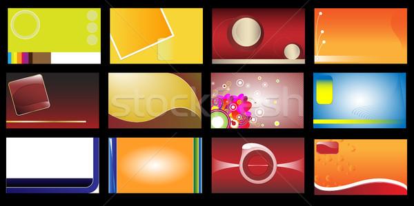 Stockfoto: Ingesteld · 12 · papier · abstract · ontwerp