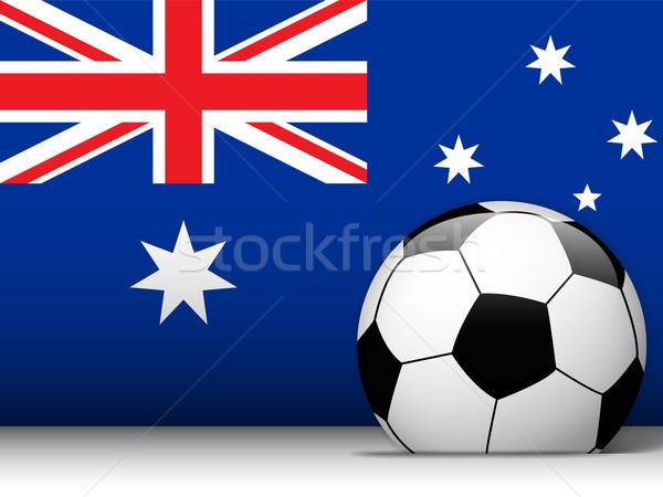 Australia piłka banderą wektora projektu świat Zdjęcia stock © gubh83