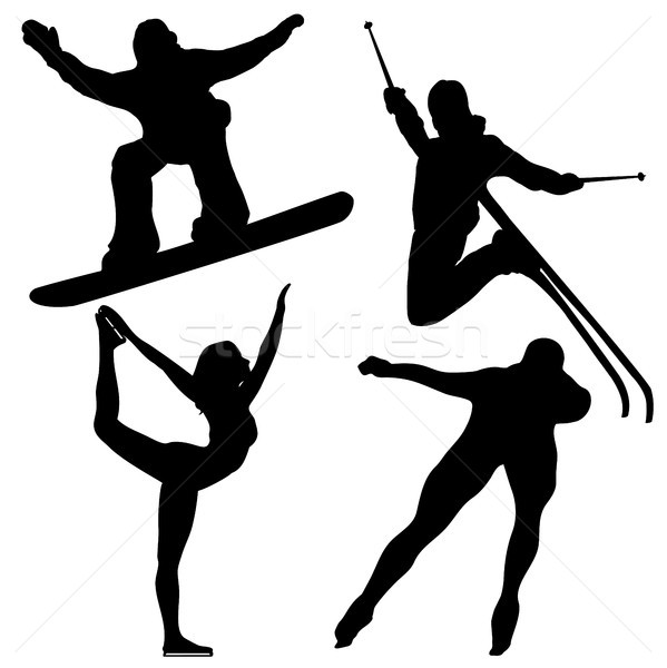 Black Winter Games Silhouettes. Stock photo © gubh83