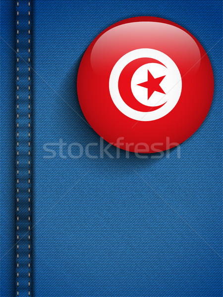 Tunisia Flag Button in Jeans Pocket Stock photo © gubh83
