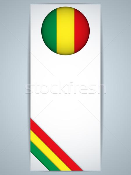 Mali ülke ayarlamak afişler vektör Internet Stok fotoğraf © gubh83