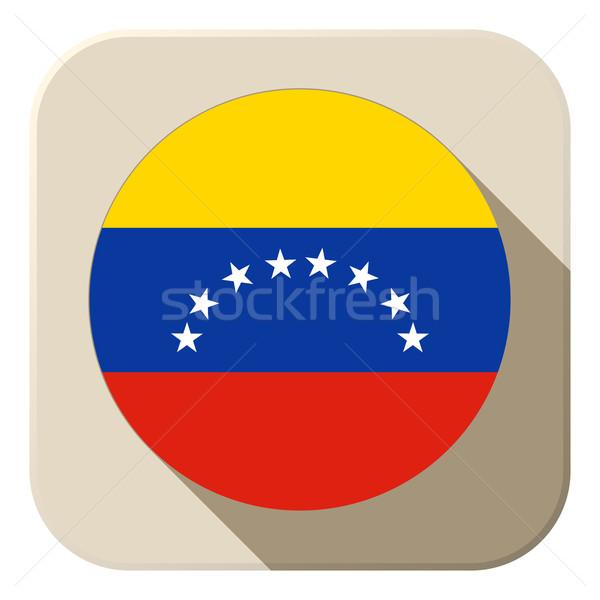 Venezuela Flag Button Icon Modern Stock photo © gubh83