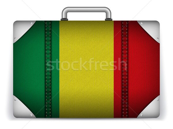 Stock photo: Mali Travel Luggage with Flag for Vacation