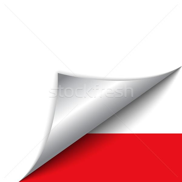 Polska kraju banderą strona wektora podpisania Zdjęcia stock © gubh83