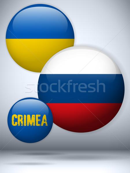 Oekraïne Rusland conflict icon vector kaart Stockfoto © gubh83