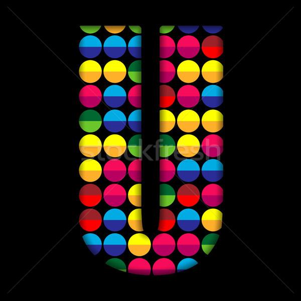 ábécé szín fekete vektor absztrakt háttér Stock fotó © gubh83