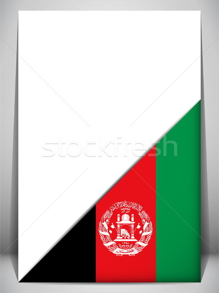 Afghanistan Country Flag Turning Page Stock photo © gubh83