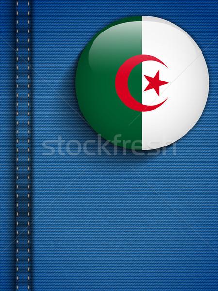 Алжир флаг кнопки джинсов кармана вектора Сток-фото © gubh83