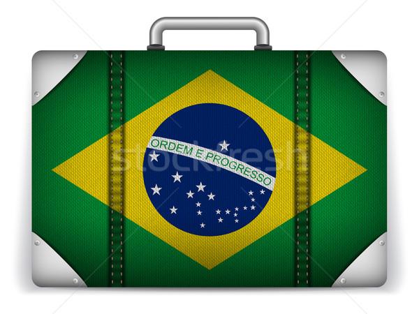 Brasil viajar bagagem bandeira férias vetor Foto stock © gubh83